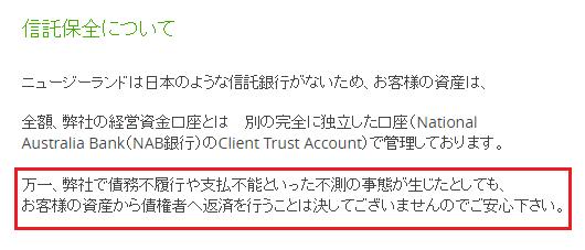 TitanFXの信託保全