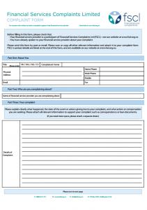 FSCLの苦情申請フォームは英語