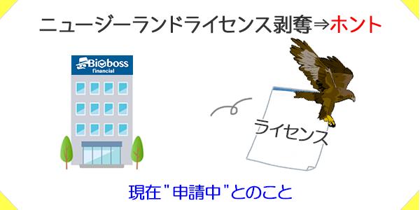 BIGBOSSがニュージーランドライセンスを剥奪されているという噂は本当