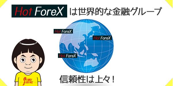 HotForexは世界的な金融グループに属しており信頼性が高い
