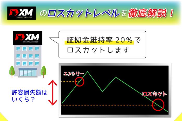 XMのロスカット・証拠金維持率の計算方法