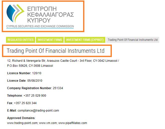 XMグループはキプロスでライセンス登録アリ